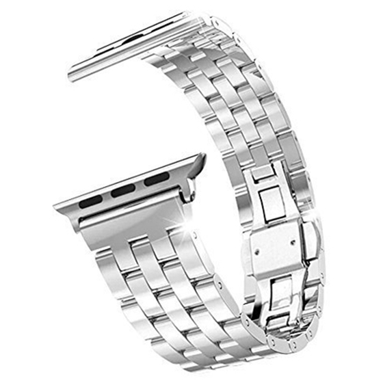 Stainless Steel Metal Strap Band 5 Ball Link Bracelet for Apple Watch iWatch (38mm, Silver ) fashion metal stainless steel mesh watch strap for apple watch iwatch wristwatch strap black silver 38mm 42mm replacement