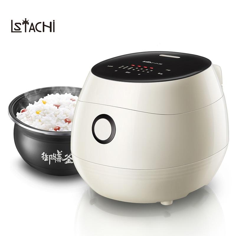 LSTACHi 3L Elegant Electric Rice Cooker Food Steamer Multicooker Porridge Soup Breakfast Maker Non-stick 24 Hours Appointment