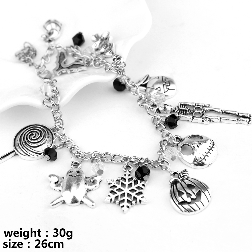 Nightmare Before Christmas Inspired Charm Bracelet Party Skeleton ...