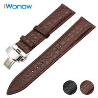 Genuine Crocodile Leather Watchband 18mm 20mm 22mm For Certina Victorinox Tissot Men Women Croco Watch Band