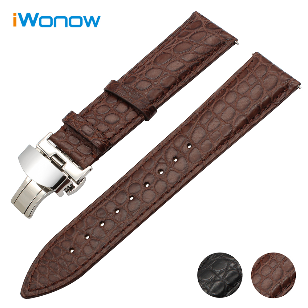 Genuine Crocodile Leather Watchband 18mm 20mm 22mm for Certina Victorinox Tissot Men Women Croco Watch Band Quick Release Strap hot sale genuine leather watchband watch strap with crocodile pattern different colors in size 18mm 20mm 22mm