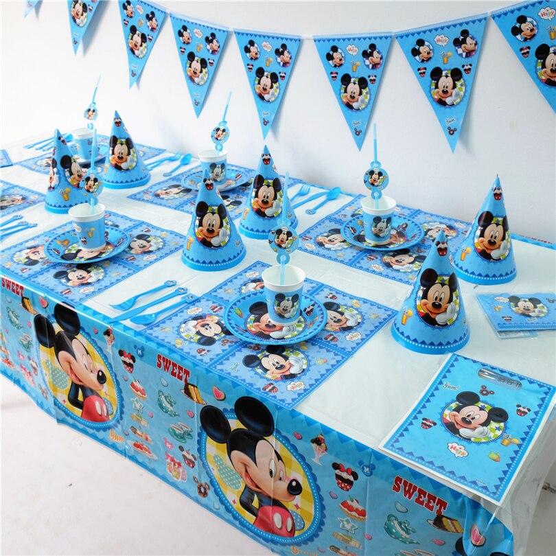 72pcs Luxury Disney Mickey Mouse Theme Baby Shower Kids