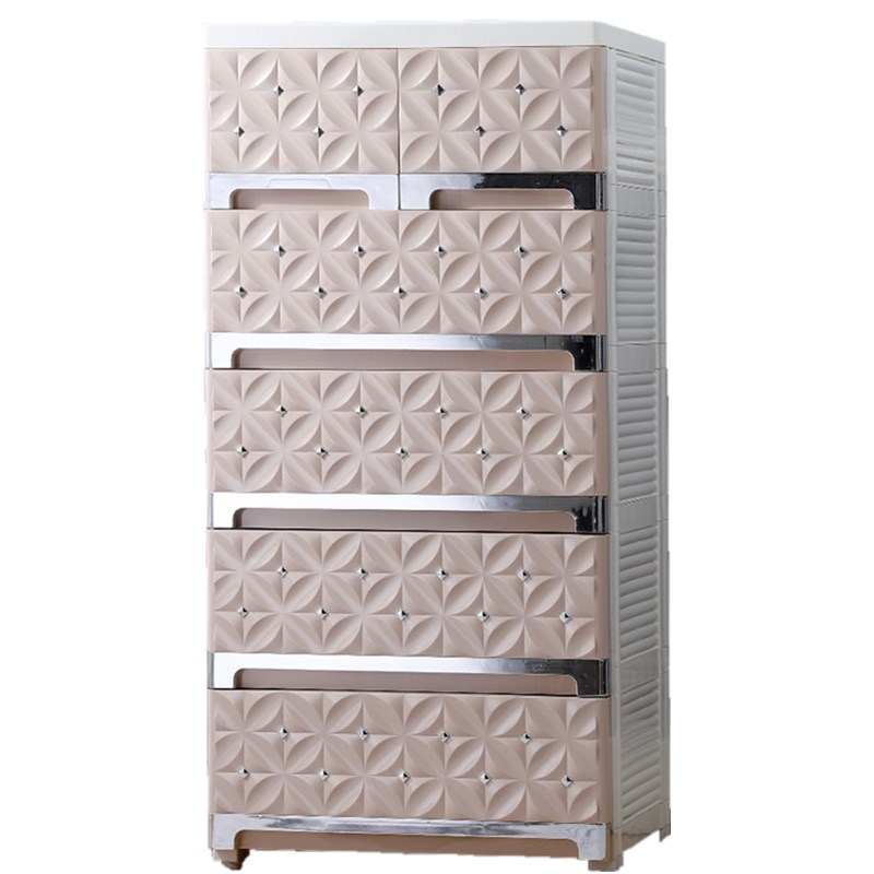 5 Layer Cabinets PP Plastic Cabinet Eco Friendly Storage Shelf Rack Organizer Firm High Capacity Drawer Organizer Divider|Living Room Cabinets| |  - title=