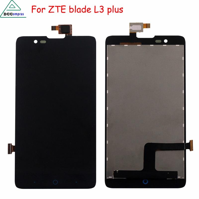 imágenes para Para ZTE Blade HN V993W L3 más Pantalla LCD de Pantalla Táctil el Montaje del digitizador Para ZTE Blade L3 Más Pantalla LCD Piezas Del Teléfono