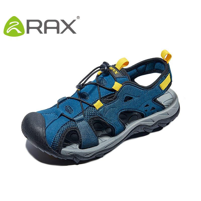 RAX Mens Beach Sandals Summer Outdoor Sneakers Men Aqua Trekking Water shoes For Men Upstream Shoes Lightweight Walking Fishing
