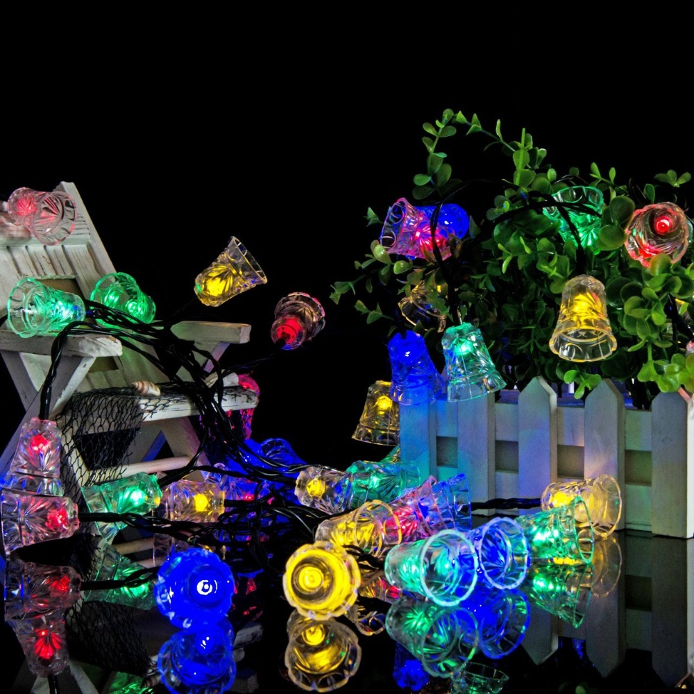 Lumiparty led bell garland solar fairy string lights solar outside lumiparty led bell garland solar fairy string lights solar outside christmas lights outdoor for christmas party decoration in led string from lights mozeypictures Choice Image