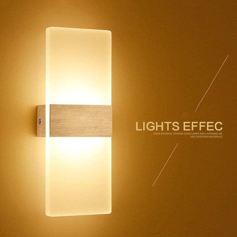 LED Wandleuchten Aluminium Lichter 3/6 Watt Befestigung An/Aus Dekorativen Lampen Nachtlicht für Pathway Treppe schlafzimmer 14*6 22*11 29*11