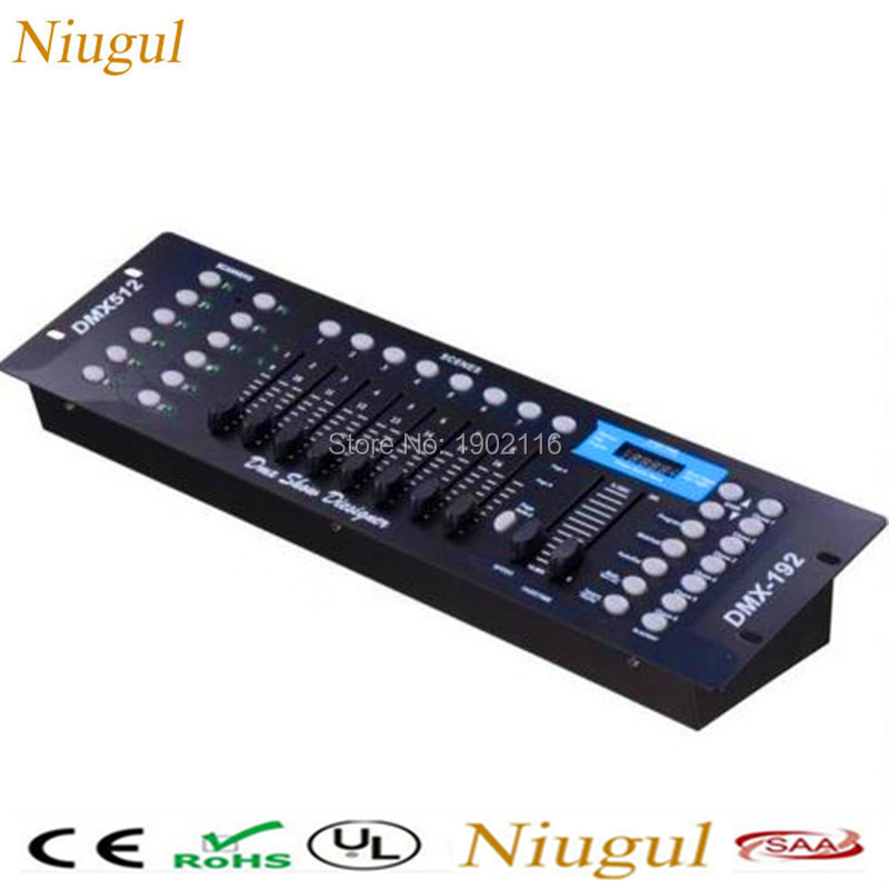 Niugul High quality DMX 192 controller for stage lighting Led par beam lights dmx console DJ controller equipment Free shipping 2pcs high quality 512 dmx console stage light equipment 192 dmx controller for stage lighting led par beam lights page 3