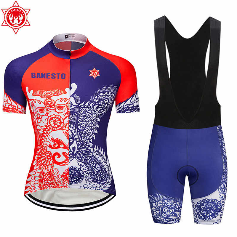 The chameleon 2018 Banesto Cycling Jersey 9D GEL Pad Bike Shorts MTB Men s  Cycling Clothing summer ed57731b1