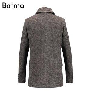 Image 4 - Batmo 2019 חדש הגעה חורף באיכות גבוהה צמר מזדמן אפור תעלת מעיל גברים, גברים של חורף מעיל חם, חורף מעילי גברים 823