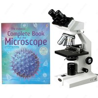 Binocular Biological Compound Microscope--AmScope Supplies 40X-1000X Binocular Biological Compound Microscope + Microscope Book