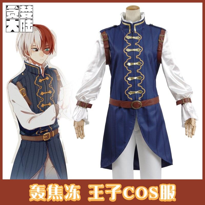 [STOCK]2017 Anime My Hero Academia TODOROKI SHOTO Cosplay costume Prince Uniform Unisex Full Set For Christmas Free Shipping.