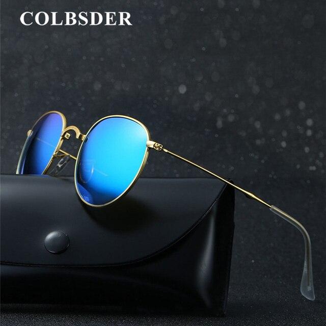 f93d5cdee1a Foldable Sunglasses Women Men Polarized Vintage Metal Round Glasses Folding  Retro Sun Glasses Female Male Oculos Lunette UV400