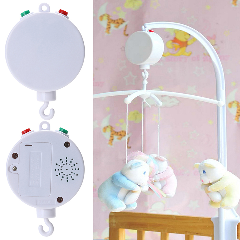 Baby Toys White 35 Song Rotary Baby Mobile Crib Bed Baby Toys Clockwork Movement Music