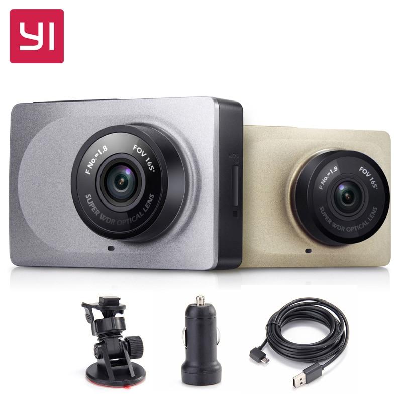 YI тире Камера 2,7 Экран Full HD 1080 P 60fps 165 градусов широкоугольный Видеорегистраторы для автомобилей регистраторы с g-Сенсор международных Ночно...