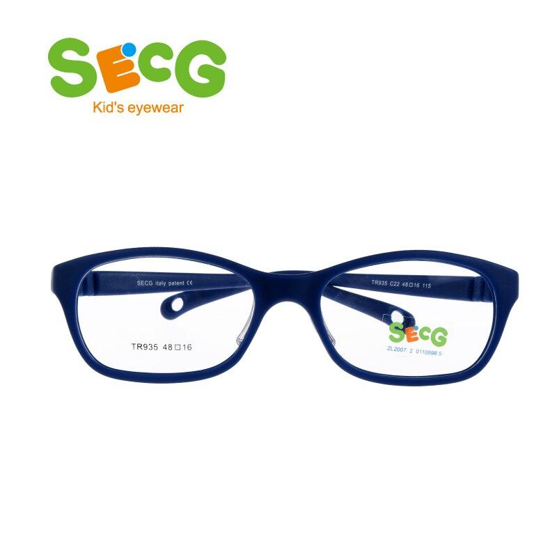 SECG Ronde Grands Enfants Cadre Flexible Souple Optique Lunettes Cadre Confortable Nez Pads En Caoutchouc Sangle Spectacle Lunettes Lunettes