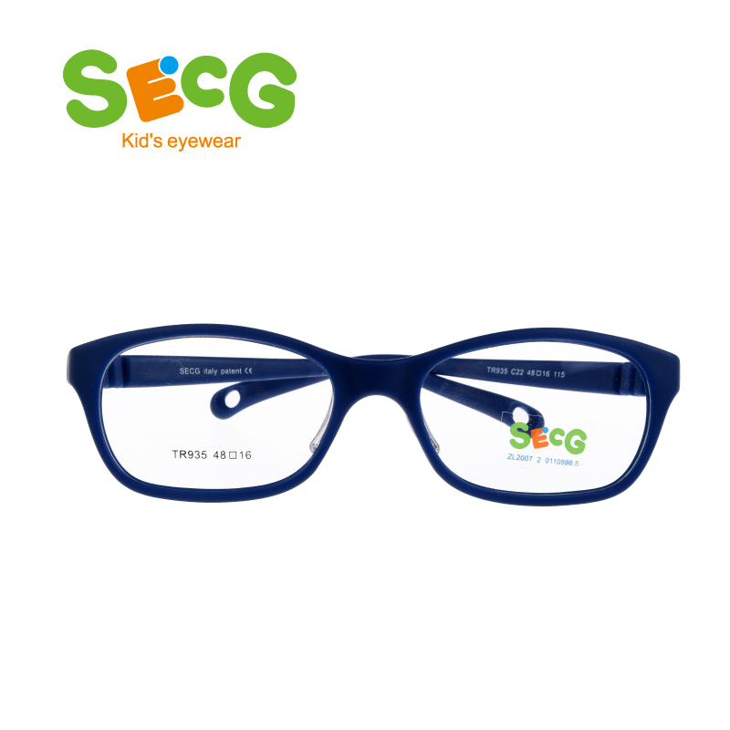 SECG Round Big Kids Frame Flexible Soft Optical Glasses Frame Comfortable Nose Pads Rubber Strap Spectacle Eyeglasses Lunettes