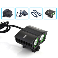 2X XM-L U2 LED 5000Lm LED Front Head Bicycle Bike Light Headlamp with 10800mAh Battery + Charger Free Shipping