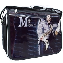 Michael Jackson PU PVC Printed Boys Girls Casual Zipper Student Shoulder Bag Crossbody Bags Schoolbag Messenger Bag 2019 For Fan(China)