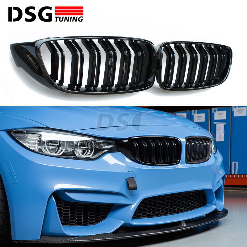 F32 F33 Front Grill Gloss Black For BMW 4 Series F32 F33 F36 F80 M3 F82 M4 Bumper Kidney Grille Mesh nb f80 black