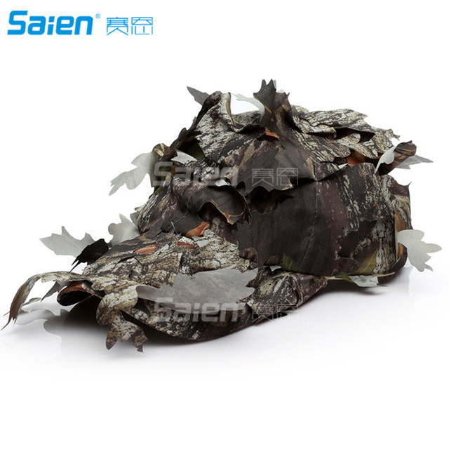 97cad3e108b9a Camouflage 3D Leafy Bucket Hat Hunting Military Camo Cap Hunter Sniper  Ghillie Bucket Hats Adjustable Jungle Bush Hat