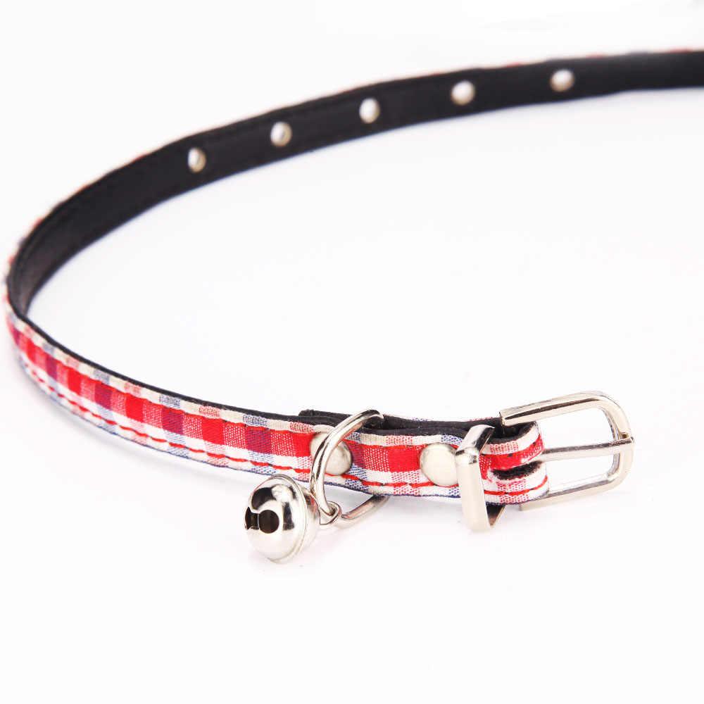 Colliers pour animaux de compagnie avec cloche pour petit chien Plaid chat chiots colliers collier mignon produits pour animaux de compagnie pour chien chat accessoire Chihuahua JW0032