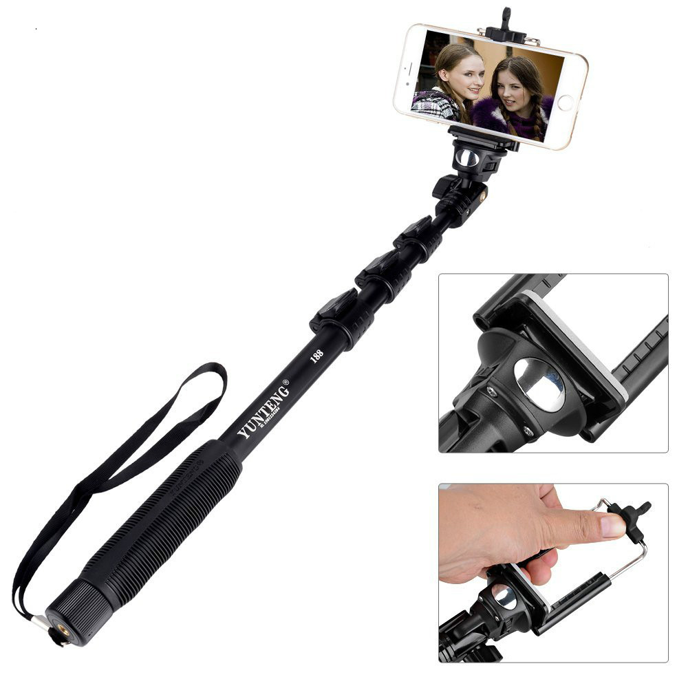 Cellphone Selfie Monopod Stick Tripod Holder For IPhone 7