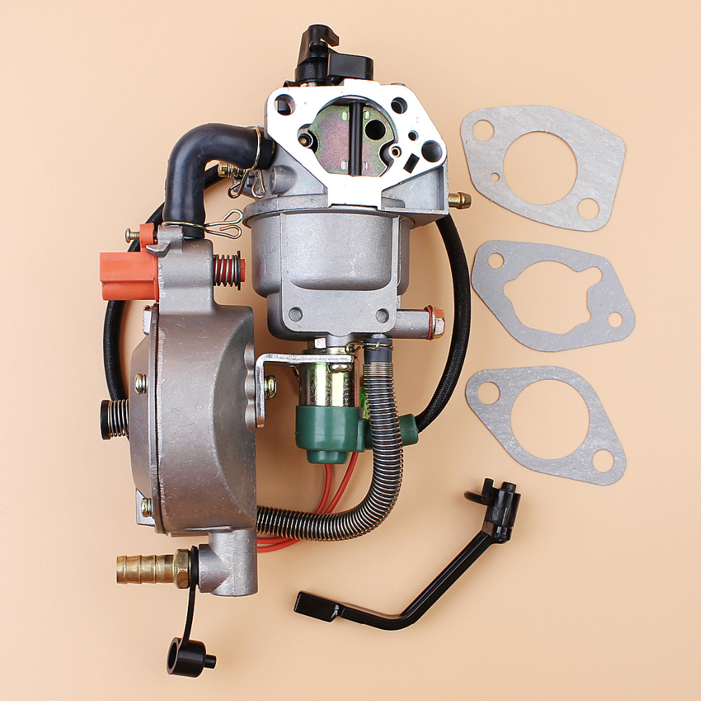 DUAL FUEL CARBURETOR CARB MANUAL TYPE FIT CHINESE 190F 188F HONDA GX390 13HP  4KW 5KW GENERATOR ENGINE PARTS MANUAL TYPE-in Lawn Mower from Tools on ...