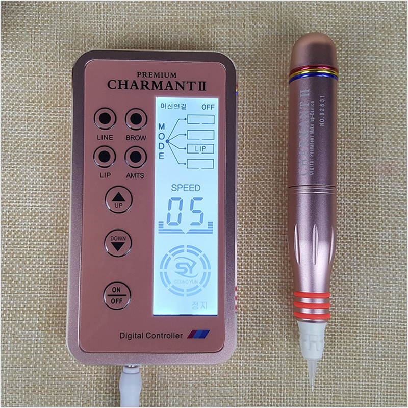 Electric Digital PREMIUM CHARMANT 2 Permanent Makeup Pen For Eyebrows Lips Body Tattoo Cosmetic Kits Make Up Cartridge Needles kimio brand fashion luxury ceramics women watches imitation clock ladies bracelet quartz watch relogio feminino relojes mujer