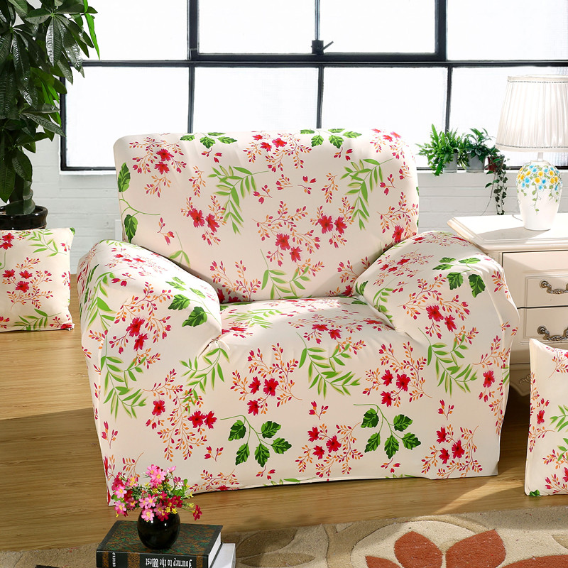 Modern Leaves Simple Sofa Cover Big Elasticity Flexible