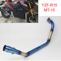 For YAMAHA YZF R15 MT 15 2008 2017 Motorcycle Scooter Exhaust Middle Pipe Muffler Full System Modified Stainess Steel MT15