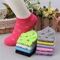 10 Типы Женщин Хлопка Лук Носок Тапочки Милые Конфеты Цвет Невидимые Вентиляция Лодка Носки Низкие Носки Чулочно-Носочные Изделия Для Женщин Носок