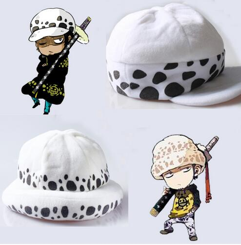 Anime One Piece Trafalgar Law plush hat winter earflaps cap cosplay High Quality