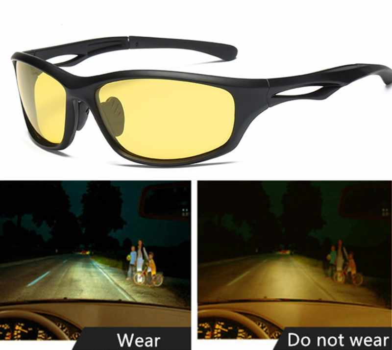 8b9bca000399 Night Vision Glasses For Headlight Polarized Driving Sunglasses Yellow Lens  UV400 Protection Night Eyewear for Driver