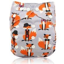 Cartoon Print Baby Nappy Reusable Diapers