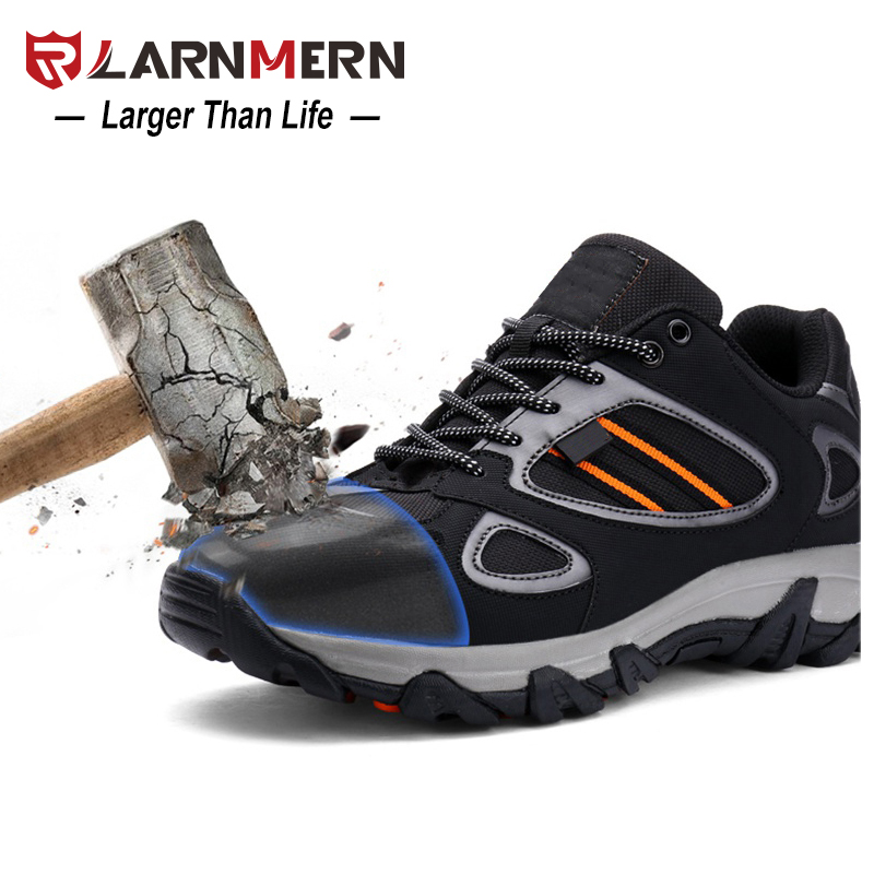 LARNMERN Outdoor Steel Toe Cap Work Safety Shoes For Men Anti-Puncture Casual Fashion Footwear Anti-Slip Combat Ankle Boots halinfer men s anti static non slip ankle boots outdoor steel toe cap work