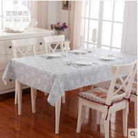 2017 PASAYIONE Pastoral Style Rectangle Table Runners Floral Printed Lace Edge Placemat Waterproof Tablewear Manteles De Mesa