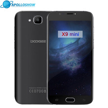 Original DOOGEE X9 mini Fingerprint 5.0Inch HD 1GB+8GB Android 6.0 Dual SIM MTK6580 Quad Core 5.0MP 2000mAH WCDMA mobile phones