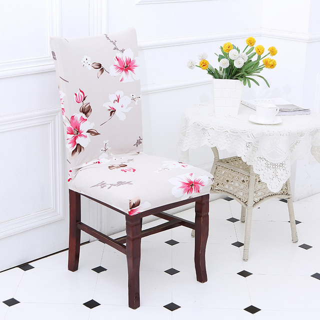 Flower Printing Stretch Chair Cover Seat Dining Covers Protector Slipcover Hotel Banquet Room Wedding