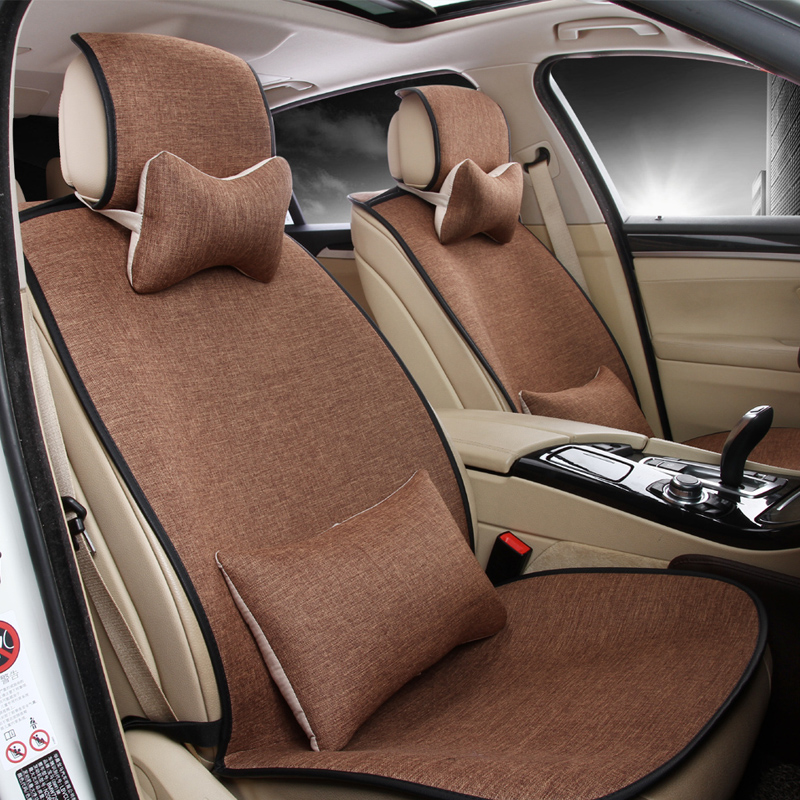 Car seat cushion spring and summer slip-resistant silica auto seat cushion car cushion set four seasons general seat cover
