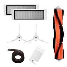 Spare Parts Kit For Xiaomi MI Robot Vacuum Cleaner HEPA Filter Roller Brush Cleaning Mops Tool Side Brushes Magnetic Strip Wall 5pcs xiaomi robot vacuum cleaner accessories mijia robot vacuums parts invisible wall side brushes filter rolling brush cover