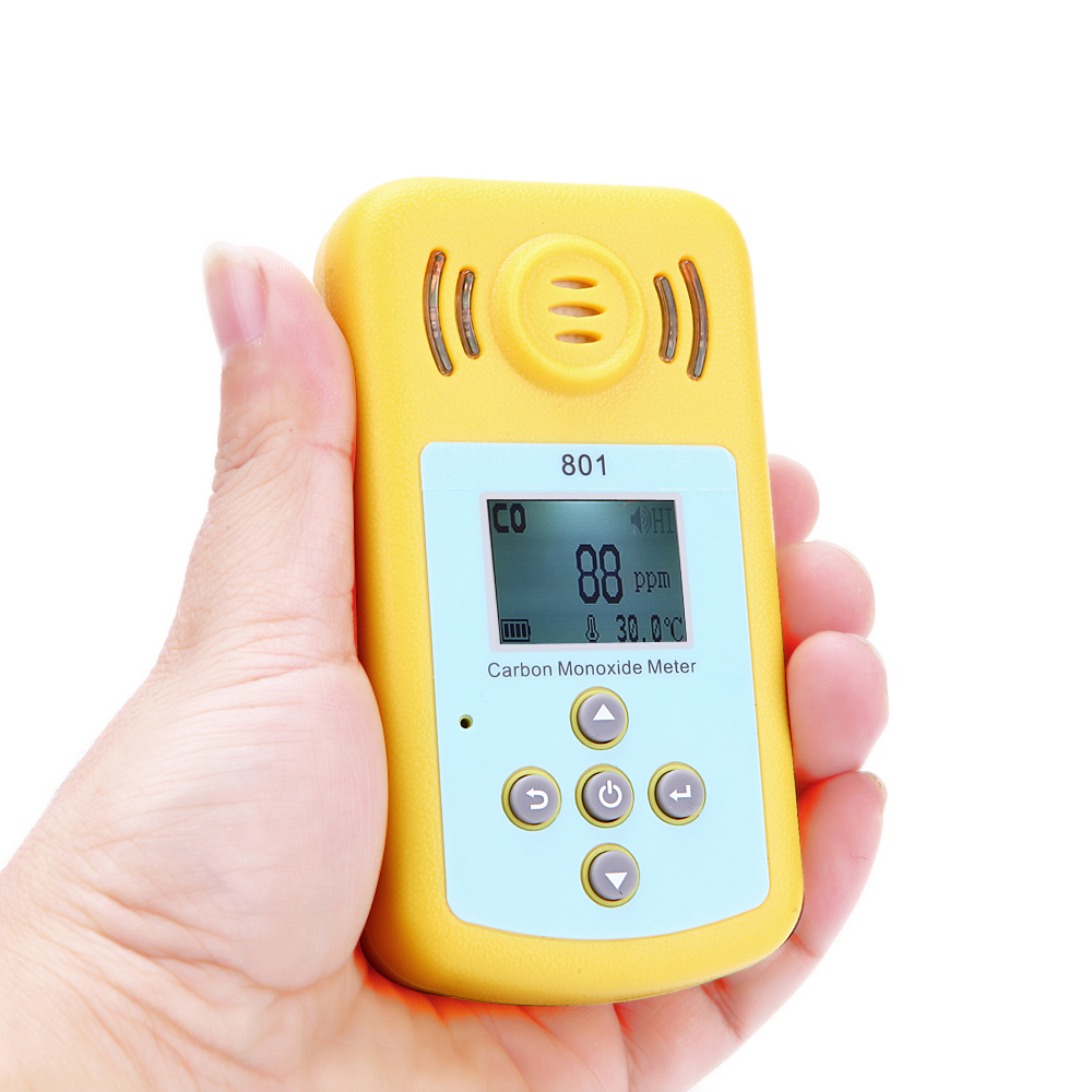 Carbon Monoxide Gas CO Detector LCD Display and Sound-light Alarm Sensitive Gas Analyzer for Home Security