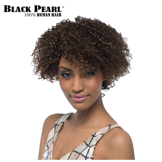 Black Pearl Short Curly Wigs For Black Women 100 Human Hair Short