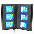 10pcs Aluminum Portable box  6 in 1 memory card case SD/SDHC/MMC Card Cases