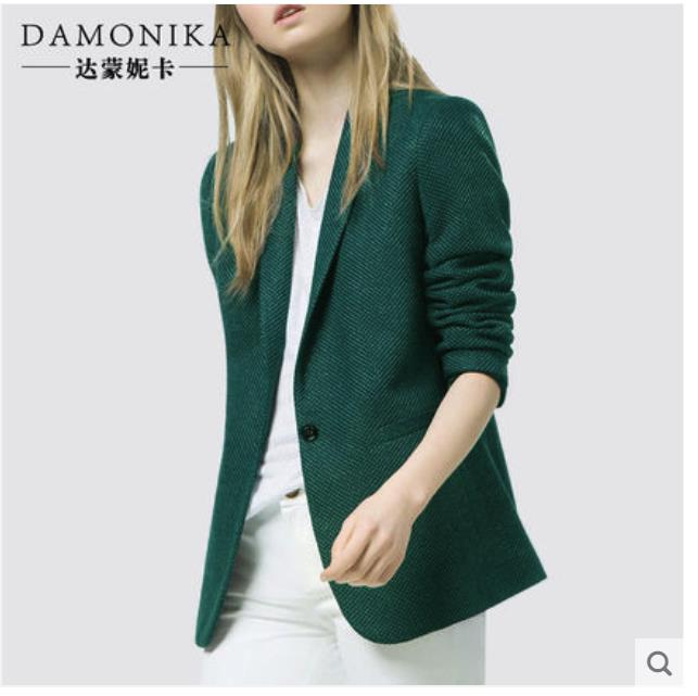 Motivated Fashionable Slim Fit Small Suit 2018 New Women's Autumn Ol Professional Leisure Suit Jacket Women's Short Style Easy To Match High Safety
