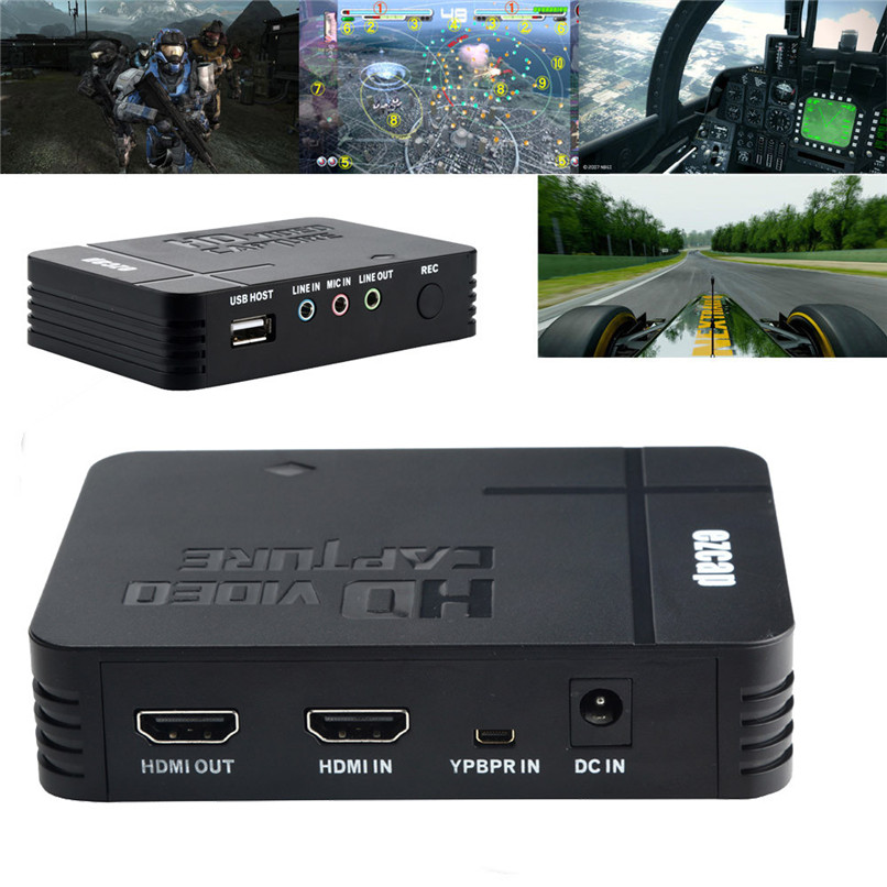 Superior Quality USB 2.0 Video Capture HD 1080P HDMI/YPBPR Game Capture Recorder Box Free Shipping NOM18