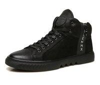 ECCO модные Повседневное высокие Для мужчин s кроссовки мягкие 7 классический ретро из коровьей кожи Для мужчин Спортивная обувь зимние теплы