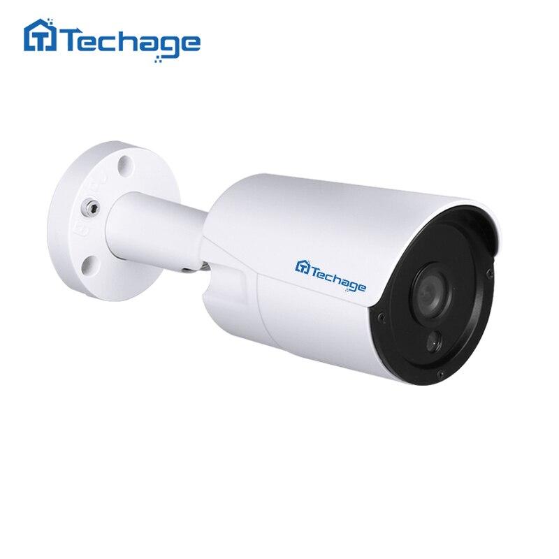Techage 1080P 48V Real POE Camera Outdoor Waterproof 2MP HD CCTV IP Camera P2P ONVIF 6pcs ARRAY IR LED Security Surveillance IPC seeyou 2mp 1 2 8 cmos waterproof outdoor bullet ip camera 1080p poe security camera cctv 2pcs array infrared led board camera