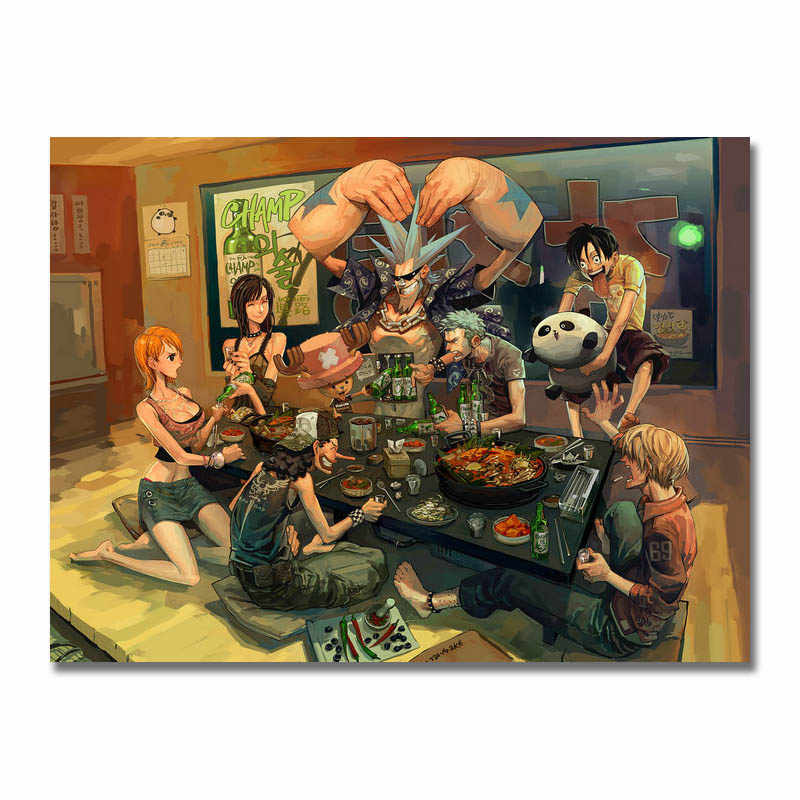 One piece Manga Forte do mundo japão anime Art Silk Poster 13x18 24x32 polegada Monkey D Luffy ACE Boa Hancock Nami Fotos (NOVO)