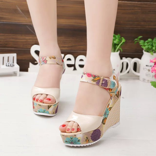 HTB1INsQapuWBuNjSszbq6AS7FXak 2019 Women Sandals Summer Platform Wedges Casual Shoes Woman Floral Super High Heels Open Toe Slippers Sandalias Zapatos Mujer